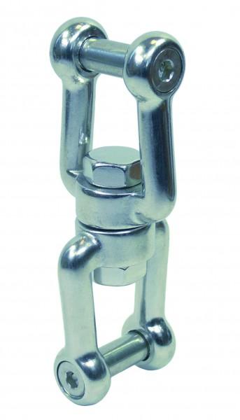 Edelstahl Wirbelschäkel, Gabel-Gabel mit Innensechskant A4 / AISI 316