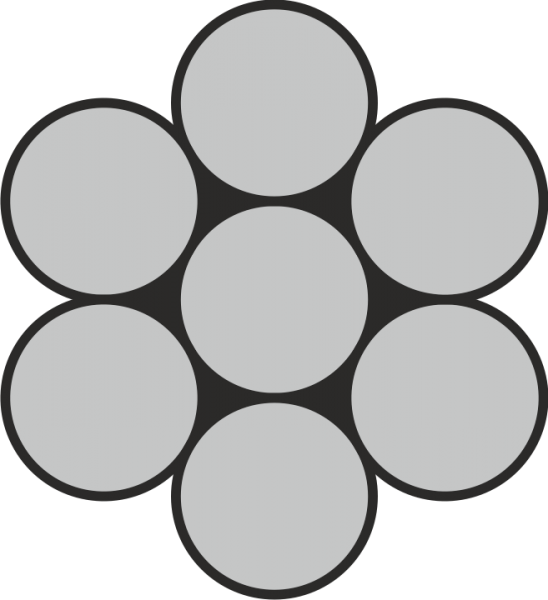 Edelstahl Drahtseil 1x7 A4 / AISI 316
