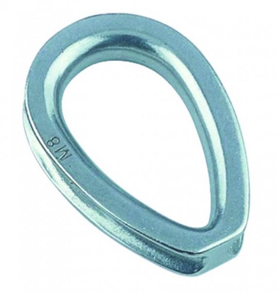 Edelstahl Kausche, schwere, geschlossene Form A4 / AISI 316
