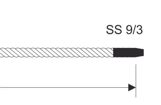 M106 Seilende mit Schrumpfschlauchb gesichert