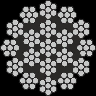 Edelstahl Drahtseil 18x7 + 1 Stahlseele A4 / AISI 316