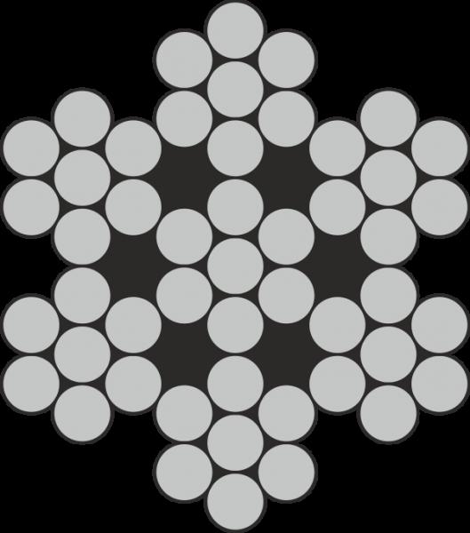 VA Drahtseil 6x7-WSC (A4)