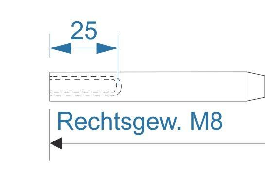 ESS VA Terminal Innengew. M8-rechts