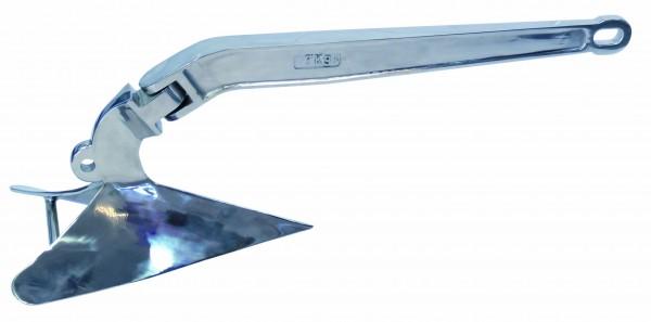 Edelstahl Pflugscharanker, hochglanzpoliert A4 / AISI 316