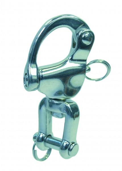 Edelstahl Schnappschäkel mit Wirbelschäkel A4 / AISI 316