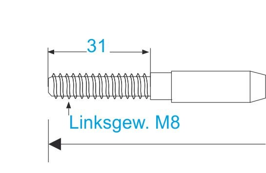 ESS VA Terminal Gewinde M8-links