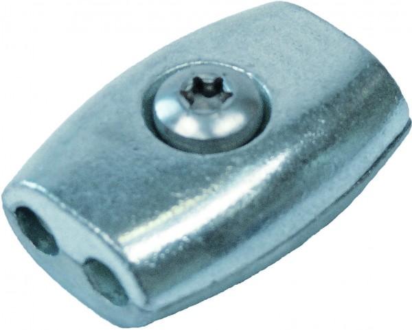 Edelstahl Eiform-Drahtseilklemme A4 / AISI 316