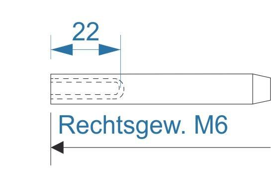 ESS VA Terminal Innengew. M6-rechts