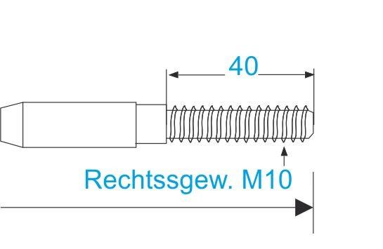 ESS VA Terminal Gewinde M10-rechts
