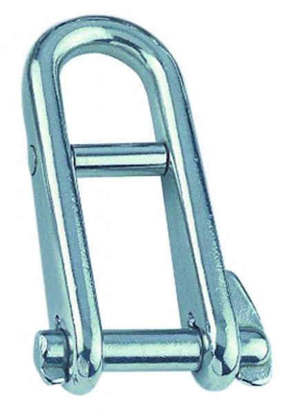 Edelstahl Schlüsselschäkel mit Steg A4 / AISI 316