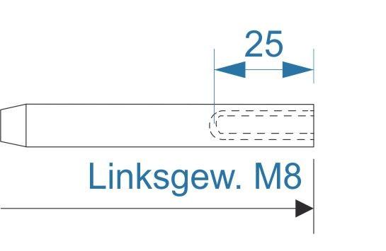 ESS VA Terminal Innengew. M8-links