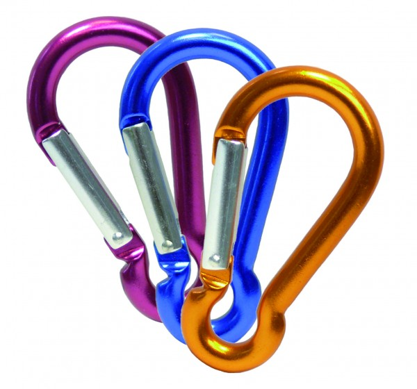 Aluminium Karabinerhaken, farbig