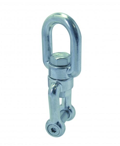 Edelstahl Wirbelschäkel, Auge-Gabel mit Innensechskant A4 / AISI 316