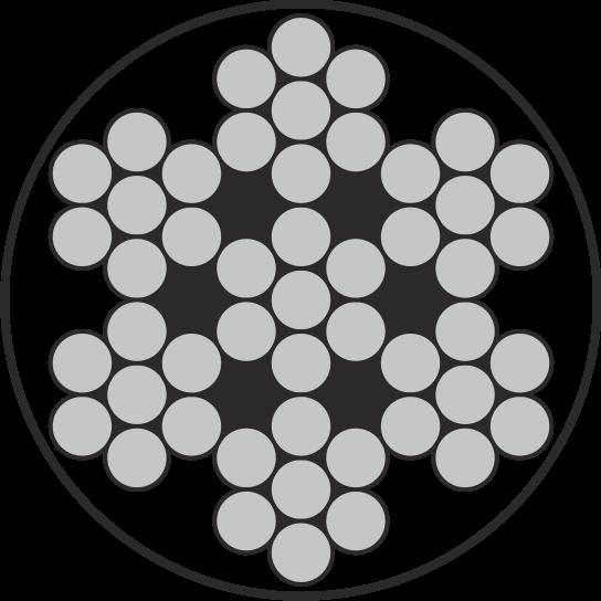 Edelstahl Drahtseil 7x7 A4 / AISI 316 PVC-ummantelt weiß
