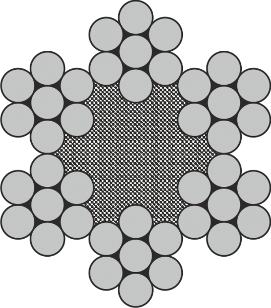 Edelstahl Drahtseil 6x7 + Faserseele A4 / AISI 316