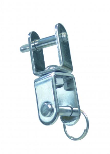 Edelstahl Wirbelschäkel, flach, Gabel-Gabel A2 / AISI 304
