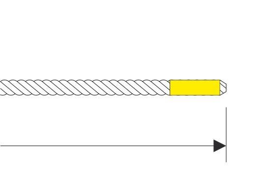M104 Seilende getapet und angeschliffen